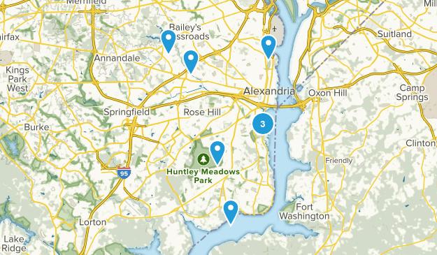Alexandria, Virginia Trail Running Map