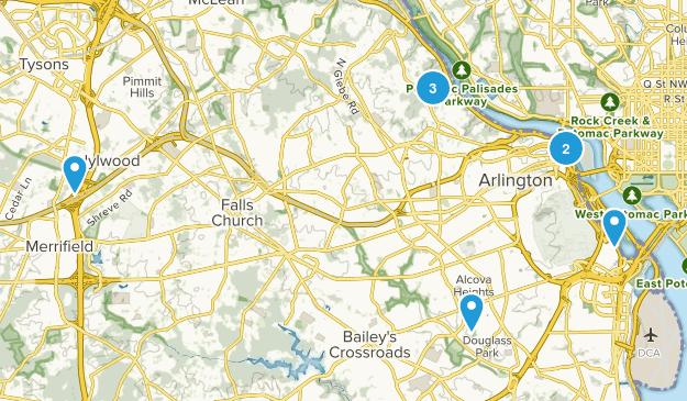Arlington, Virginia Walking Map