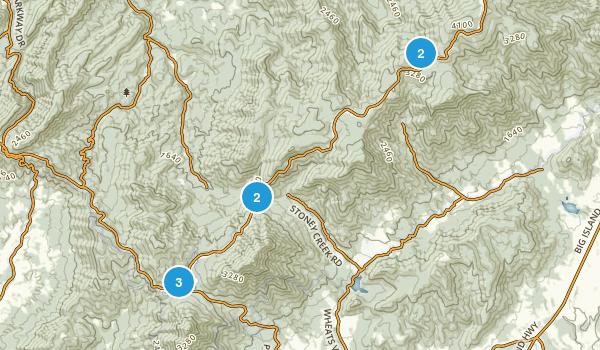 Bedford, Virginia Hiking Map