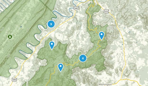 Bentonville, Virginia Hiking Map