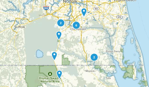Chesapeake, Virginia Wild Flowers Map