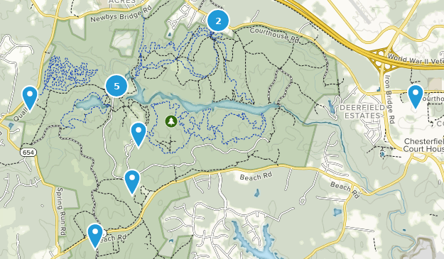 Chesterfield, Virginia Birding Map