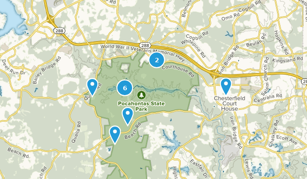 Chesterfield County, Virginia Bird Watching Map