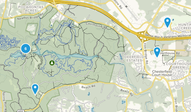Chesterfield, Virginia Kid Friendly Map