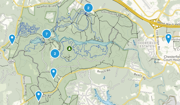 Chesterfield, Virginia Mountain Biking Map