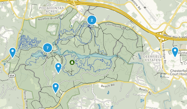 Chesterfield, Virginia Nature Trips Map