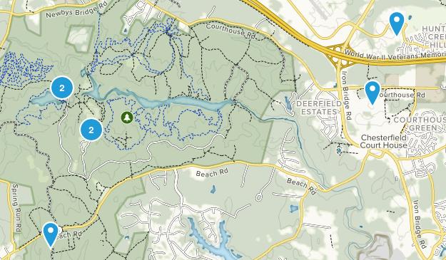 Chesterfield, Virginia Trail Running Map