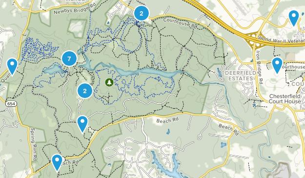 Chesterfield, Virginia Walking Map