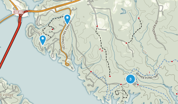 Clarksville, Virginia Mountain Biking Map