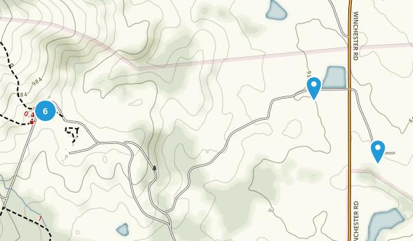 Delaplane, Virginia Hiking Map