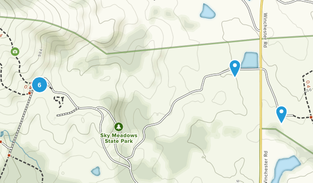 Delaplane, Virginia Hiking Map