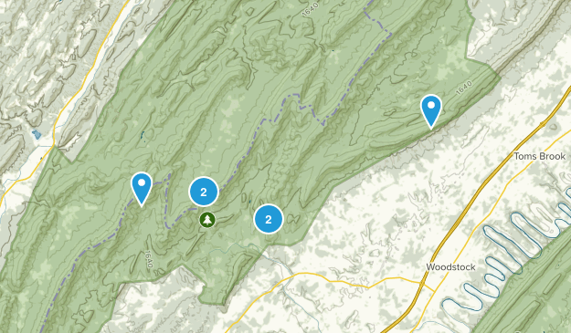 Edinburg, Virginia Hiking Map