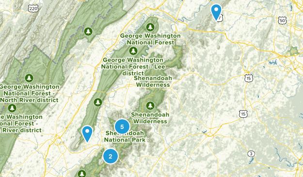 Elkton, Virginia Hiking Map