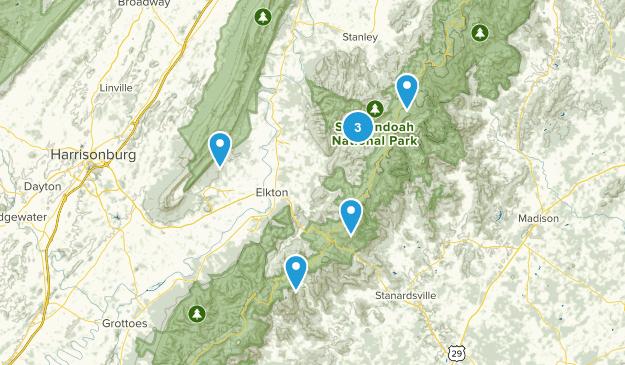 Elkton, Virginia Views Map