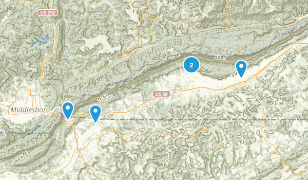 Ewing, Virginia Hiking Map