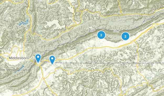Ewing, Virginia Hiking Map
