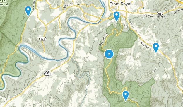 Front Royal, Virginia Birding Map