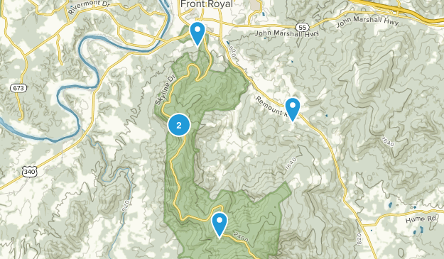 Front Royal, Virginia Trail Running Map