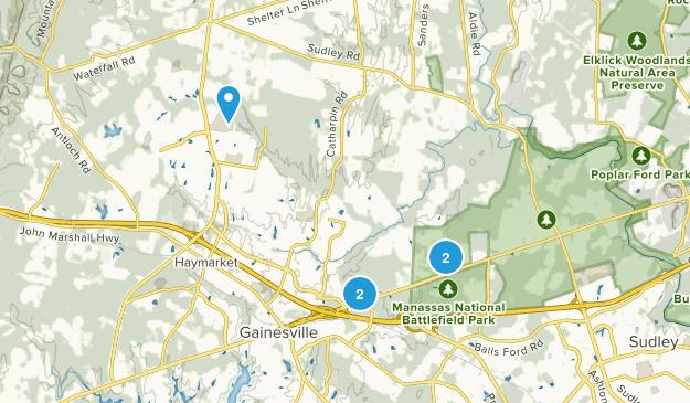 Gainesville, Virginia Hiking Map