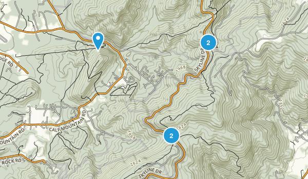 Greenwood, Virginia Walking Map