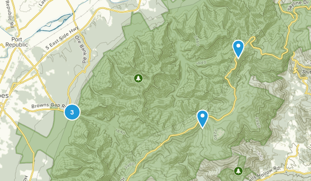 Grottoes, Virginia Trail Running Map