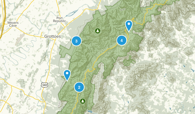 Grottoes, Virginia Views Map