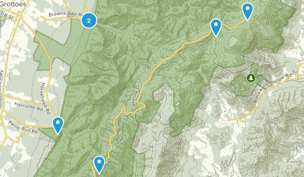 Grottoes, Virginia Wildlife Map