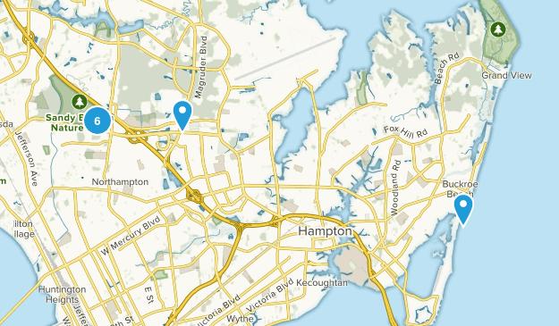 Hampton, Virginia Trail Running Map