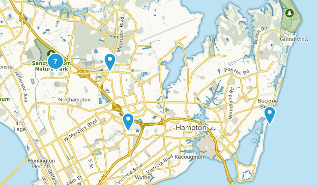 Hampton, Virginia Walking Map
