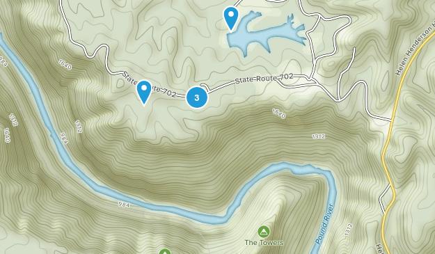Haysi, Virginia Hiking Map