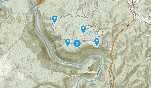 Haysi, Virginia Walking Map