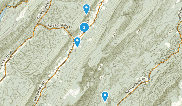 Hot Springs, Virginia Hiking Map