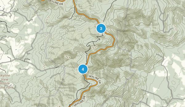 Huntly, Virginia Hiking Map