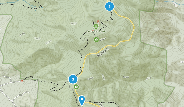 Huntly, Virginia Hiking Map