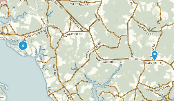 Lancaster, Virginia Birding Map