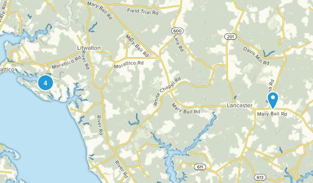 Lancaster, Virginia Walking Map