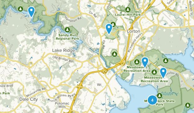 Lorton, Virginia Dogs On Leash Map