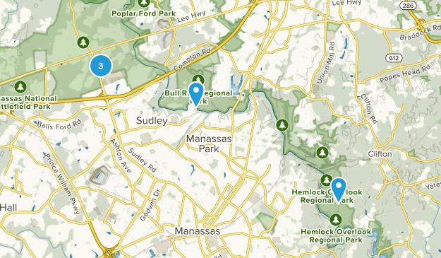 Manassas, Virginia Trail Running Map