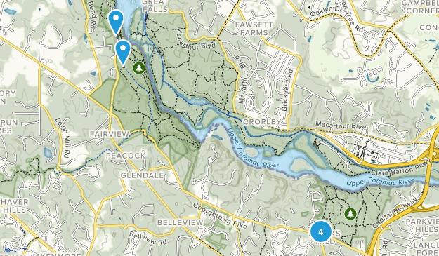 McLean, Virginia Nature Trips Map