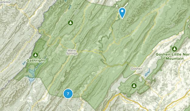 Millboro, Virginia Forest Map