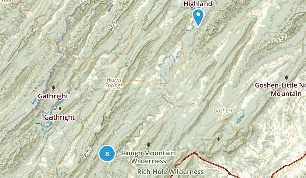 Millboro, Virginia Hiking Map