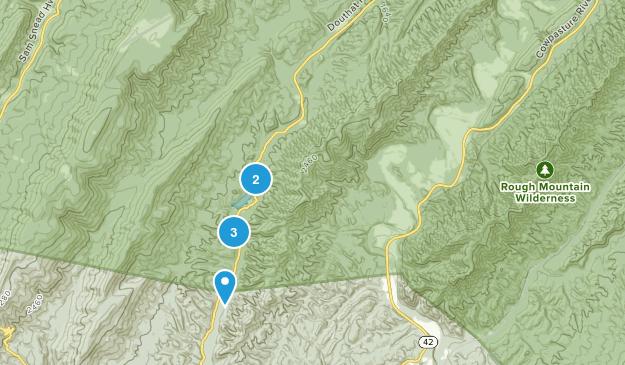 Millboro, Virginia Mountain Biking Map