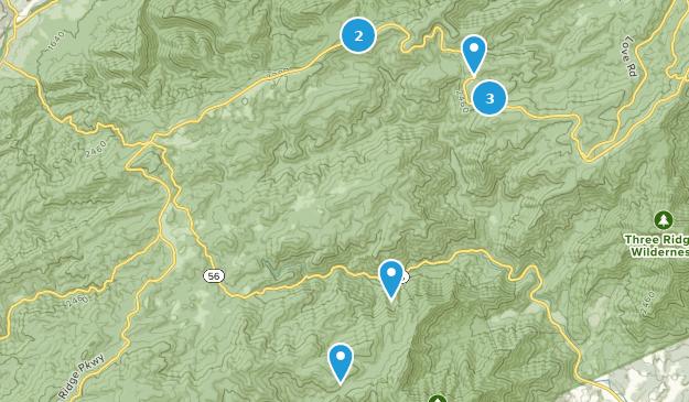 Montebello, Virginia Hiking Map