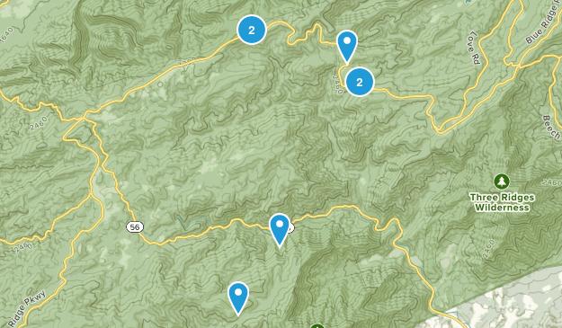 Montebello, Virginia Walking Map