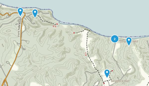 Montross, Virginia Dogs On Leash Map