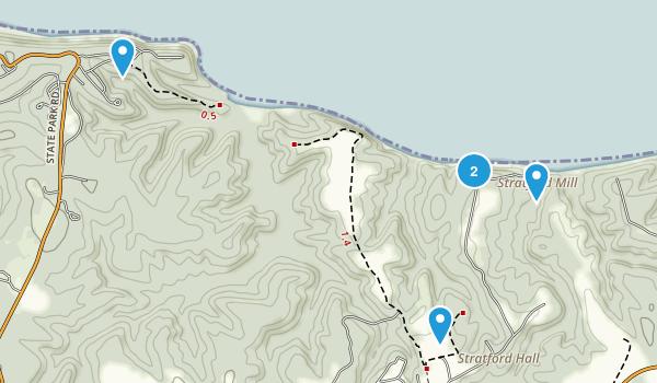 Montross, Virginia Trail Running Map