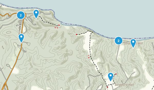 Montross, Virginia Walking Map