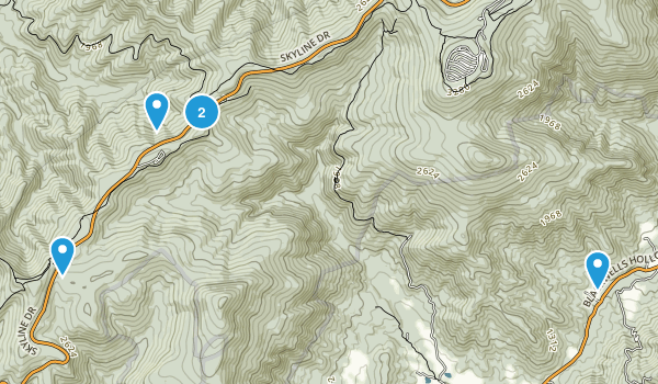 Mountfair, Virginia Hiking Map