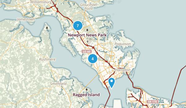 Newport News, Virginia Walking Map