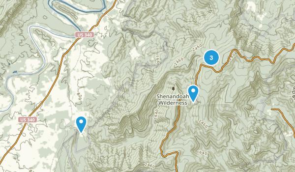 Rileyville, Virginia Dogs On Leash Map